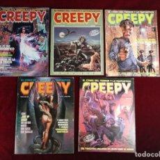 Fumetti: CREEPY EL COMIC DEL TERROR Y LO FANTASTICO LOTE 4 NºS 59 65 69 72 TOUTAIN EDITOR. Lote 152745730