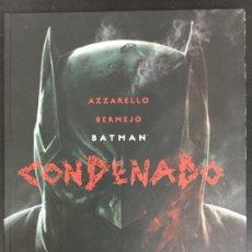 Cómics: BATMAN. CONDENADO LIBRO 1 - AZZARELLO, BERMEJO - ECC. Lote 153798568