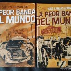 Cómics: LA PEOR BANDA DEL MUNDO - 1 Y 2 (COLECCIÓN COMPLETA) - JOSE CARLOS FERNANDES - ASTIBERRI - CARTONÉ. Lote 154215146