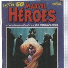 Cómics: FORUM: MARVEL HEROES NUM 50. ESPECIAL. CON LA NOVELA GRAFICA LOS INHUMANOS POR ANN NOCENTI. Lote 154283461