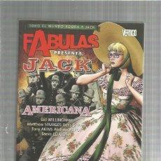 Cómics: FABULAS JACK AMERICANA. Lote 154310066