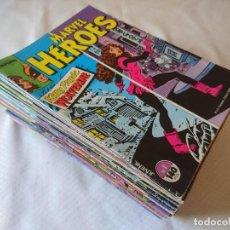 Cómics: SUPER LOTE AVANZADO MARVEL HEROES 45 NUMEROS. Lote 154488234