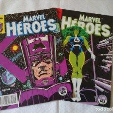 Cómics: LOTE MARVEL HEROES 2 NUMEROS. Lote 154489522