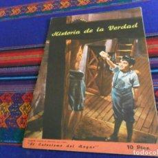 Cómics: MUY BUEN ESTADO, HISTORIA DE LA VERDAD, EL CATECISMO DEL HOGAR. LIBRERÍA SALESIANA 1957. 10 PTS.. Lote 154640254