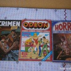 Cómics: LOTE DE 103 COMIC EROTICOS HORROR 19,CRIMEN 22,ODEON16 CACHAL15 Y OTRAS COLECCIONES VER FT ADICIONAL. Lote 154683118