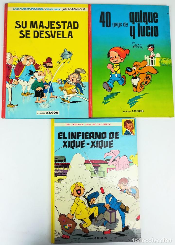 4 CÓMICS ARGOS. VV. AA. EDITORIAL ARGOS. S.A. BARCELONA 1971 (Tebeos y Comics - Comics Pequeños Lotes de Conjunto)