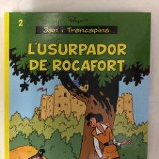 Cómics: JAN I TRENCAPINS 2. L'USURPADOR DE ROCAFORT (CATALÀ) - PEYO - EDITORIAL BASE. Lote 155614264