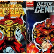 Cómics: IRON MAN: DESDE LAS CENIZAS. -COMPLETA 1 AL 8- FORUM,1995. EXCELENTES.. Lote 155865458