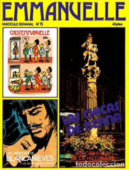 EMMANUELLE - Nº 15- EROTISMO-TRANSICIÓN E HISTORIETA-1976-SABATÉS- RARO Y CURIOSO-BUENO-LEAN-0557 (Tebeos y Comics - Comics otras Editoriales Actuales)