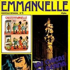 Cómics: EMMANUELLE - Nº 15- EROTISMO-TRANSICIÓN E HISTORIETA-1976-SABATÉS- RARO Y CURIOSO-BUENO-LEAN-0557. Lote 155983446