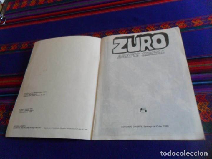 Cómics: CÓMIC CUBANO PROPAGANDISTA DEL COMUNISMO, ZURO AGENTE SIDERAL. EDITORIAL ORIENTE 1986. RARO. - Foto 2 - 157263330