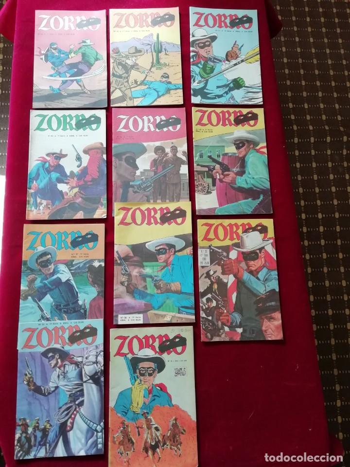 LOTE ZORRO (X11 UNIDADES) - 1ª SÉRIE - EBAL 1979 (Tebeos y Comics - Comics Pequeños Lotes de Conjunto)
