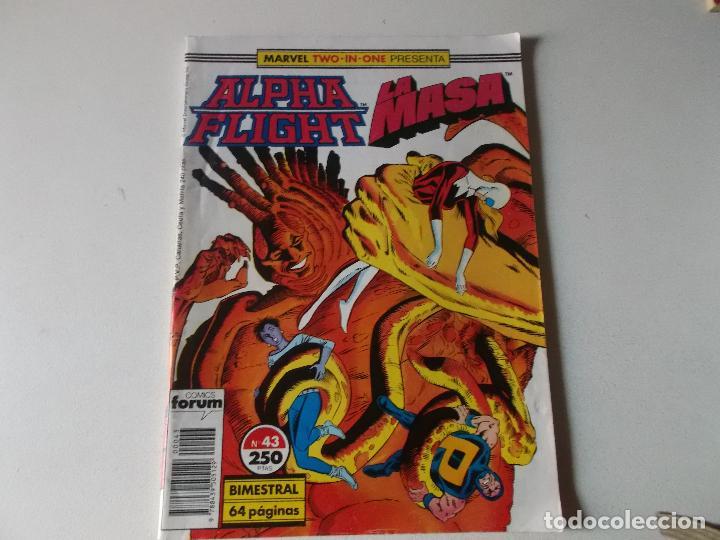 ALPHA FLIGHT LA MASA NUMERO 43 (Tebeos y Comics Pendientes de Clasificar)