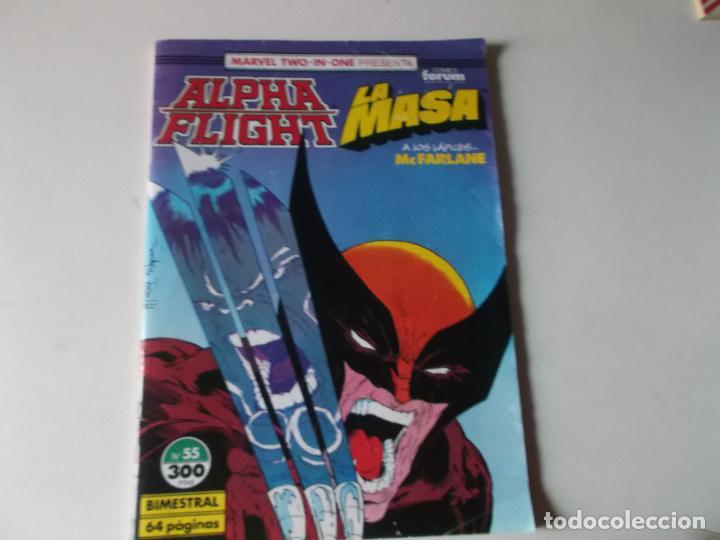 ALPHA FLIGHT LA MASA NUMERO 55 (Tebeos y Comics Pendientes de Clasificar)
