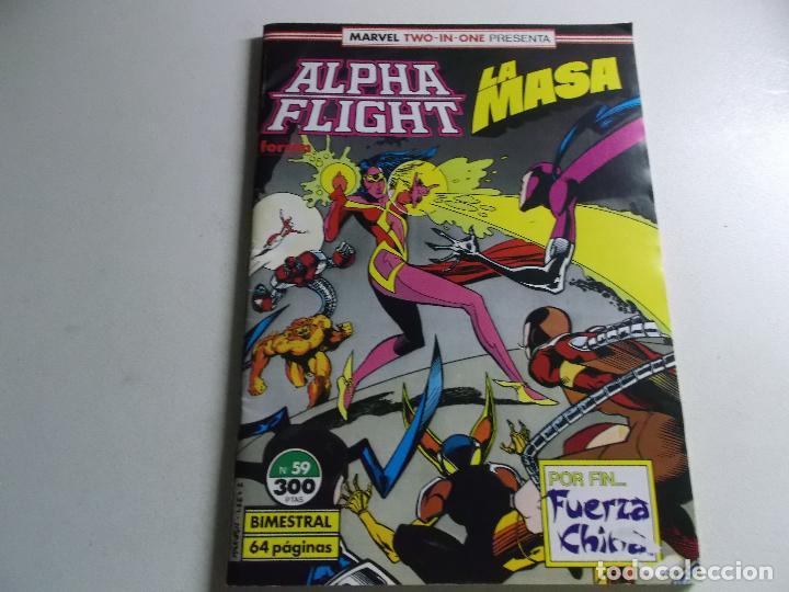 ALPHA FLIGHT LA MASA NUMERO 59 (Tebeos y Comics Pendientes de Clasificar)