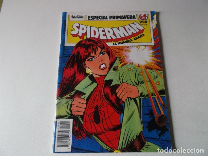 SPIDERMAN-ESPECIAL PRIMAVERA-FORUM-AÑO 1987-COLOR-FORMATO GRAPA-EL JUEGO MAS DIVERTIDO (Tebeos y Comics Pendientes de Clasificar)