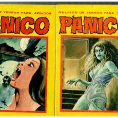Fumetti: PÁNICO -RELATOS DE TERROR PARA ADULTOS- NºS.-53,55,57 Y 60 (ÚLTIMO DE LA COLEC.). VILMAR 1978.. Lote 158830838