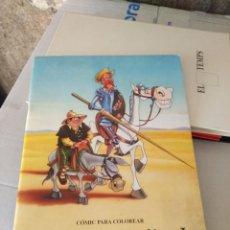 Cómics: DON QUIJOTE DE LA MANCHA ( COMIC PARA COLOREAR ). Lote 159107594
