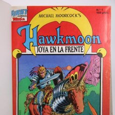 Cómics: COLECCIÓN COMPLETA 16 CÓMICS HAWKMOON ENCUADERNADOS, 1 TOMO - FIRST COMICS / TEBEOS SA, 1988. Lote 159661070