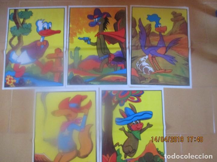 DIBUJOS WALT DISNEY EN LAMINAS DE PLASTICO (42 X 30 CM) -5 EJEMPLARES (Tebeos y Comics - Comics otras Editoriales Actuales)