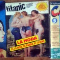 Cómics: LOTE 3 COMICS: BESAME MUCHO Nº 29/ TITANIC Nº 5/ CAIRO Nº 5. Lote 160012998
