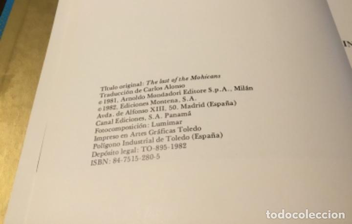 Cómics: El último mohicano Ediciones Montena tapa dura 1981 - Foto 3 - 160350182
