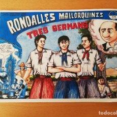 Cómics: TRES GERMANS (RONDALLES MALLORQUINES D'EN JORDI DES RACÓ). Lote 160357850