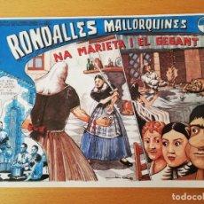 Cómics: NA MARIETA I EL GEGANT (RONDALLES MALLORQUINES D'EN JORDI DES RACÓ). Lote 160358266