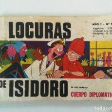 Cómics: LOCURAS DE ISIDORO - AÑO I, Nº 9 - EDITORIAL DANTE QUINTERNO (ARGENTINA) 1969. Lote 160850674