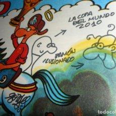 Cómics: AUTÓGRAFO Y DIBUJOS DE FORGES EN CON USTEDES FORGES '82 Nº 1 CON PEGATINAS. MBE. REGALO Nº 5.. Lote 161758074