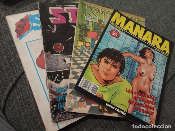 REVISTA COMIC STAR - LOTE DE 5 NÚMEROS + MANARA Nº 16 (Tebeos y Comics - Comics Pequeños Lotes de Conjunto)