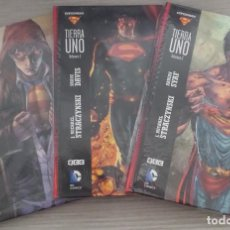 Cómics: SUPERMAN TIERRA UNO COMPLETA EN 3 TOMOS 1+2+3 POR J. MICHAEL STRACZYNSKY Y SHANE DAVIS CARTONE (ECC). Lote 162001798