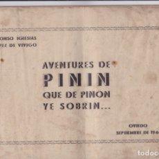Cómics: AVENTURES DE PINÍN, QUE DE PINÓN YE SOBRÍN....1944. Y UN CÓMIC SORPRESA DE REGALO. Lote 162970194