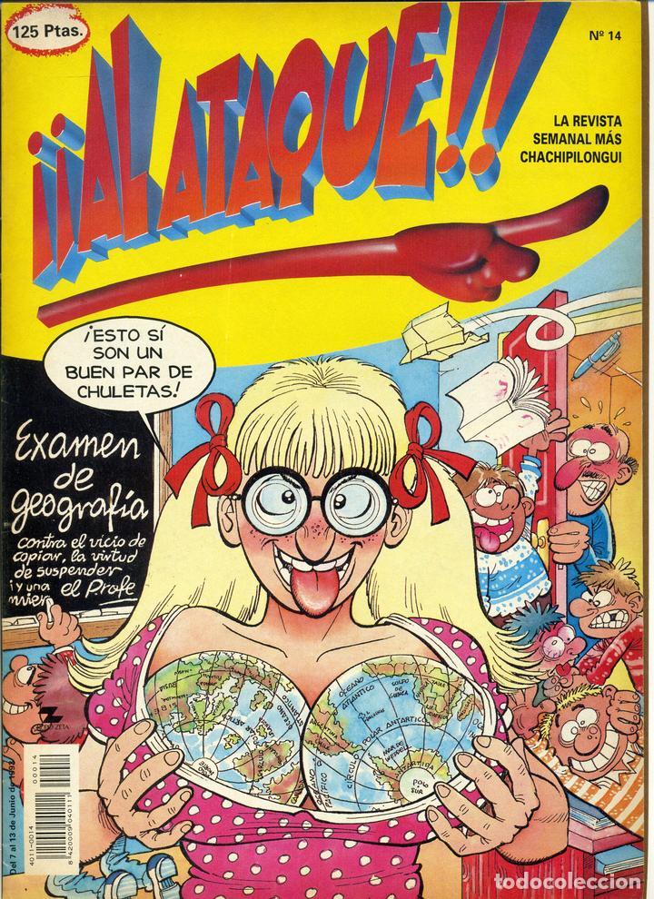 ¡¡ AL ATAQUE !! Nº 14 - 1993 REVISTA SEMANAL MÁS CHACHIPILONGUI (Tebeos y Comics Pendientes de Clasificar)