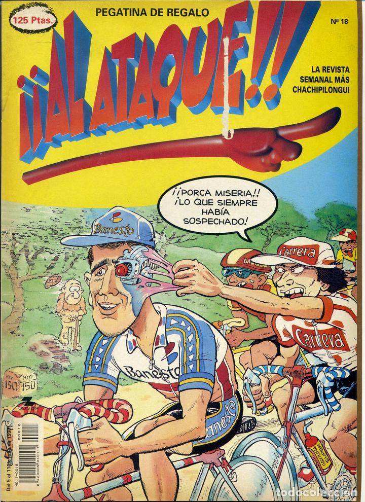 ¡¡ AL ATAQUE !! Nº 18 - 1993 REVISTA SEMANAL MÁS CHACHIPILONGUI (Tebeos y Comics Pendientes de Clasificar)