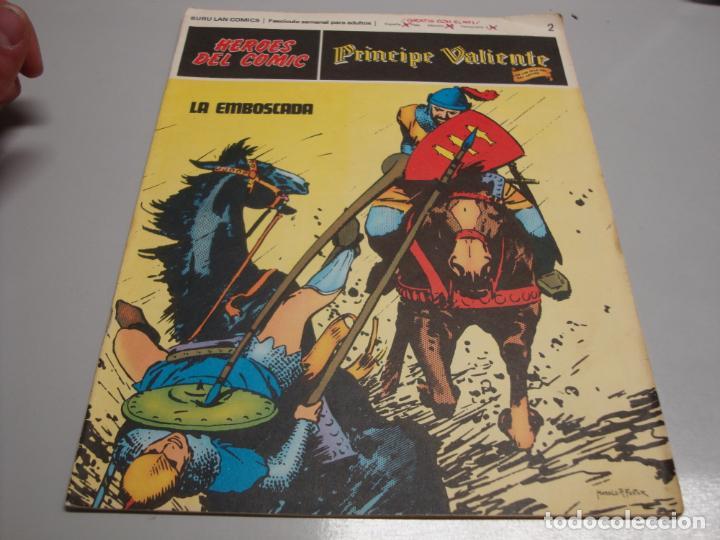 HEROES DEL COMIC, PRINCIPE VALIENTE Nº 2, EDITORIAL BURULANR (Tebeos y Comics - Buru-Lan - Principe Valiente)