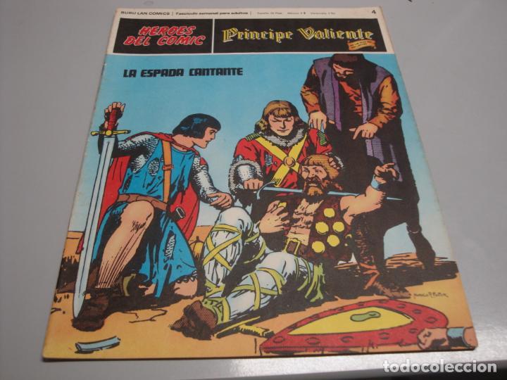 HEROES DEL COMIC, PRINCIPE VALIENTE Nº 4, EDITORIAL BURULAN (Tebeos y Comics - Buru-Lan - Principe Valiente)