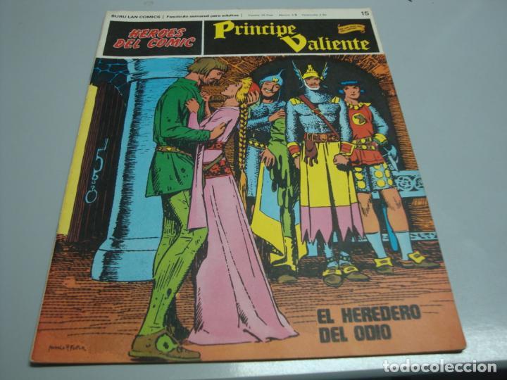 HEROES DEL COMIC, PRINCIPE VALIENTE Nº 15, EDITORIAL BURULAN (Tebeos y Comics - Buru-Lan - Principe Valiente)