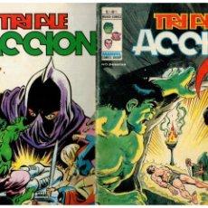 Comics: TRIPLE ACCIÓN -LOTE DE 19 NÚMEROS DE 23 QUE SON COMPLETA- VÉRTICE,1979. LEER. Lote 163608686