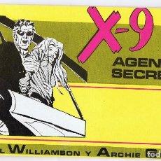 Cómics: X - 9 AGENTE SECRETO Nº 1 . Lote 165604850