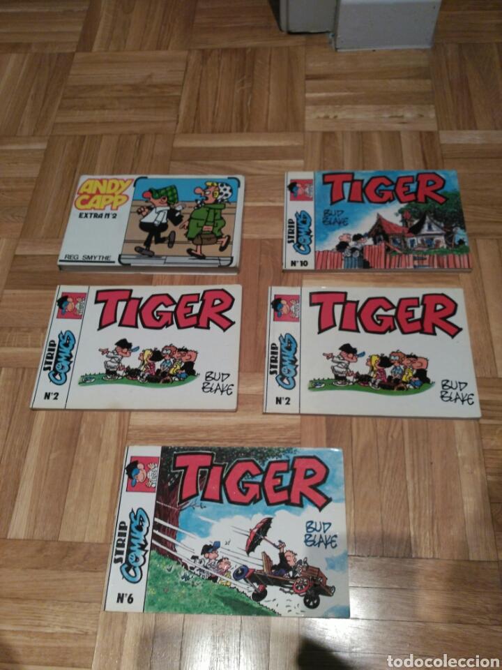 LOTE CÓMICS TIGER Y ANDY CAPP (Tebeos y Comics - Comics Pequeños Lotes de Conjunto)