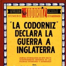 Cómics: LA CODORNIZ DECLARA LA GUERRA A INGLATERRA (EDAF, 1999) DE PGARCÍA. TAPA DURA. 192 PGS.. Lote 166110946