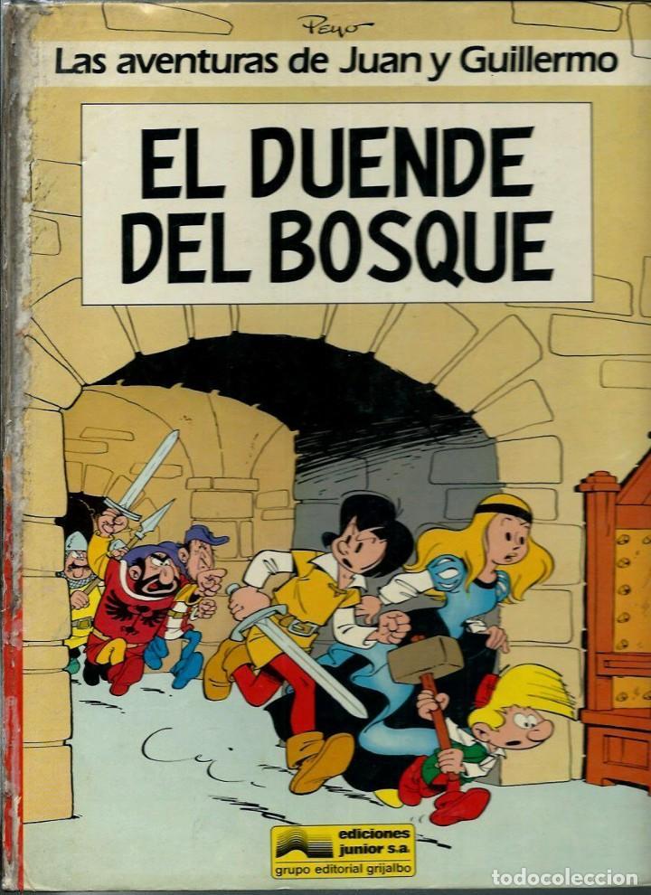 Cómics: PEYO - AVENTURAS DE JUAN Y GUILLERMO - ED JUNIOR 1986, 4 ALBUMES, COLECCION COMPLETA - VER DESCRIPC. - Foto 3 - 166147074