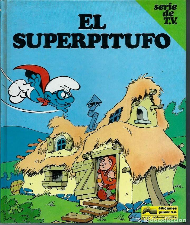 Cómics: PEYO - LOS PITUFOS SERIE DE T.V. Nº 1 A 4 - ED JUNIOR 1983-84, 4 ALBUMES, COLECCION COMPLETA - Foto 2 - 166148386