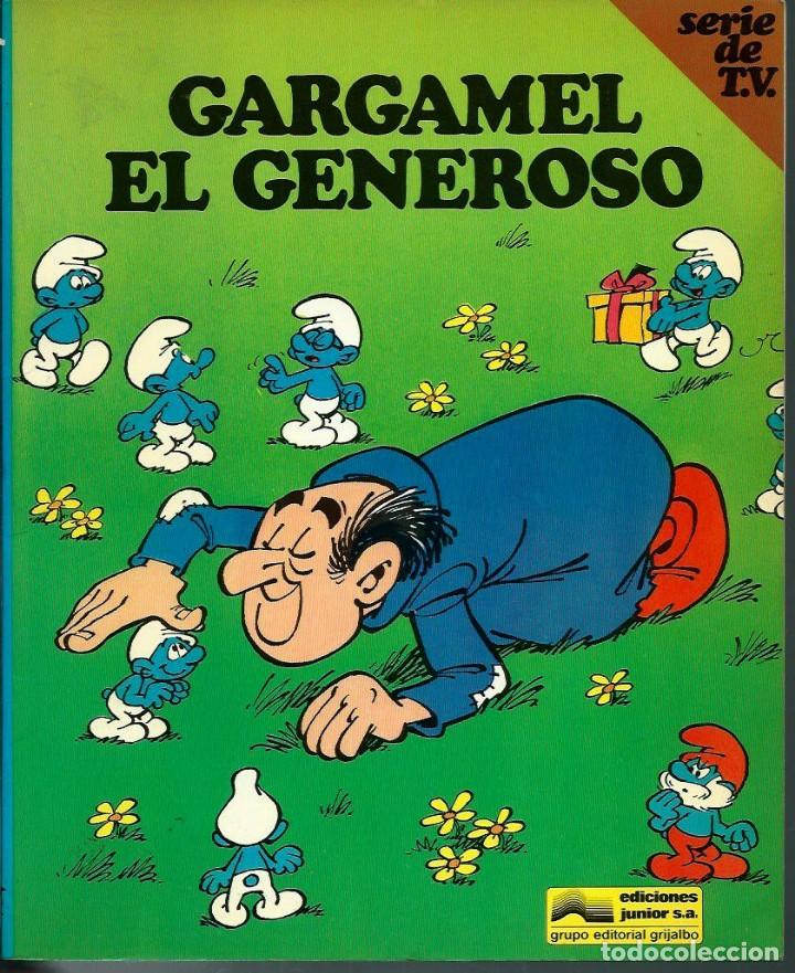 Cómics: PEYO - LOS PITUFOS SERIE DE T.V. Nº 1 A 4 - ED JUNIOR 1983-84, 4 ALBUMES, COLECCION COMPLETA - Foto 3 - 166148386
