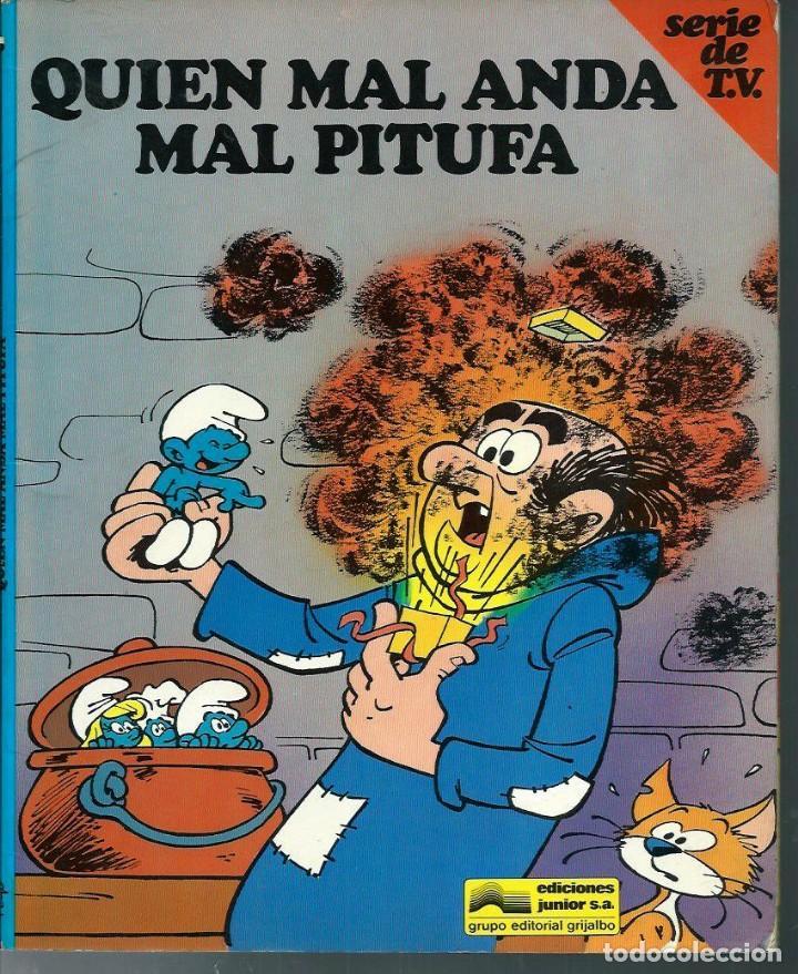 Cómics: PEYO - LOS PITUFOS SERIE DE T.V. Nº 1 A 4 - ED JUNIOR 1983-84, 4 ALBUMES, COLECCION COMPLETA - Foto 4 - 166148386