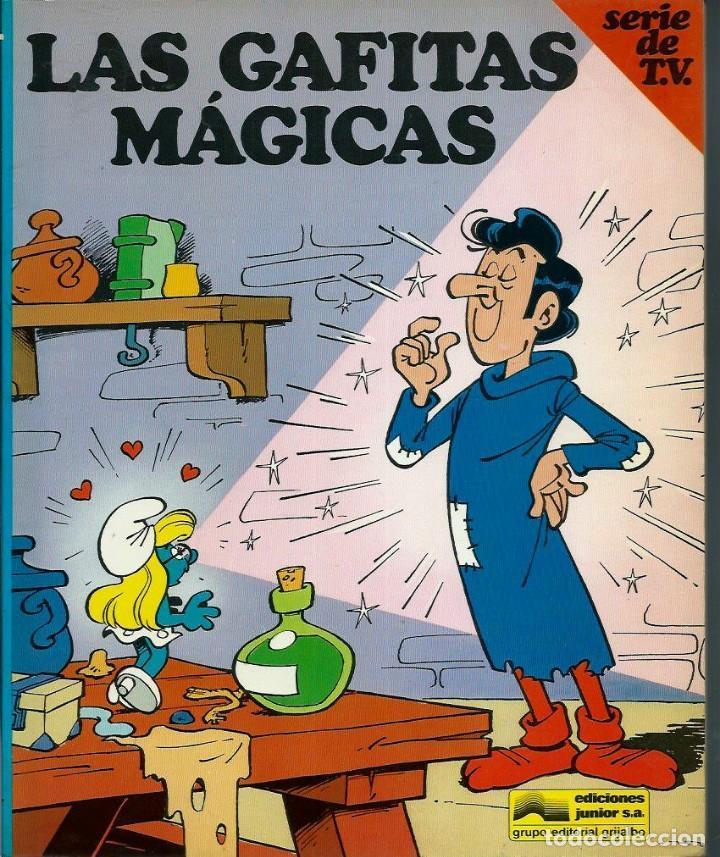 Cómics: PEYO - LOS PITUFOS SERIE DE T.V. Nº 1 A 4 - ED JUNIOR 1983-84, 4 ALBUMES, COLECCION COMPLETA - Foto 5 - 166148386