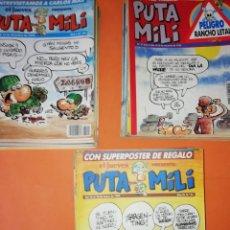 Cómics: PUTA MILI. GRAN LOTE DE LOS NUMEROS 24 AL 125. MAS REGALO. BUEN ESTADO. Lote 166385178