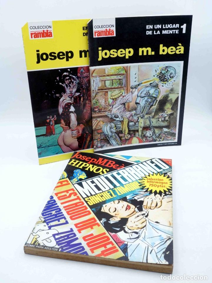 PACK JOSEP M. BEÀ. UN LUGAR DE MI MENTE + HIPNOS, MEDITERRANEO, FOBIA. INTERMAGEN, 1985. OFRT (Tebeos y Comics - Comics Pequeños Lotes de Conjunto)