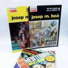 Fumetti: PACK JOSEP M. BEÀ. UN LUGAR DE MI MENTE + HIPNOS, MEDITERRANEO, FOBIA. INTERMAGEN, 1985. OFRT. Lote 196027392